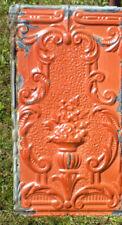 Sale! Antique Victorian Ceiling Tin Tile Flowers Torch Chic Cottage Cabinet Door