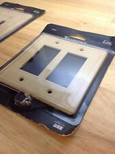 weybridge cast stone double gfci gold swp105-07 electrical / light switch plate