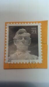"""Abraham Lincoln, Stamp, USA, .21cents, 2014, 7/8"""" x 1"""""""