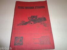 Spare Parts List / Catalog Claas Matador Standard Combine Harvester Stand