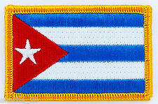 PATCH ECUSSON BRODE DRAPEAU CUBA INSIGNE THERMOCOLLANT NEUF FLAG PATCHE