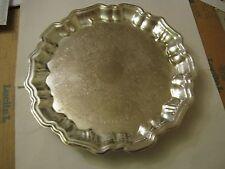 "Leonard Silverplate 13 1/2"" Serving Dish, On 3 Feet (014-3)"