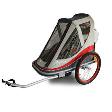 FREETOWN Easy Breeze - Two Child Bicycle Trailer (RED/GREY)