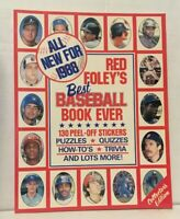 Red Foley's Best Baseball Book Ever 1988 130 peel off stickers puzzles Quizzes