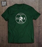 Talking Heads Once In A Lifetime Inspired Forest Green & Charcoal Gildan T-shirt