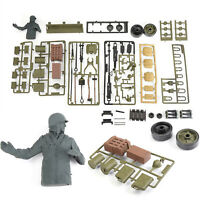 For 1:16 USA Sherman M4A3 RC Tank Military Model Kit 3898 Plastic Full Set Parts