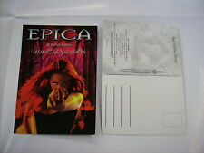 "EPICA - CARTOLINA  ""WE WILL TAKE YOU WITH US""  POSTCARD"