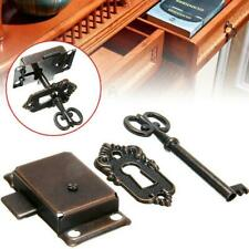 1* Cabinet Door Lock Set Key Clock China Jewlery Replacement Antique Style Best