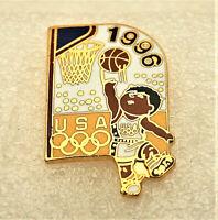 1996 Atlanta USA Olympic Games Basketball Team Enamel Pin NOS New