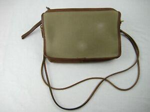 Coach Purse- Brown LTHR Canvas Shoulderbag Satchel Tote Handbag 1970 VINTAGE Bag