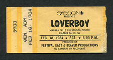 1984 Loverboy concert ticket stub Niagara Falls NY  Working For The Weekend