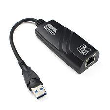 USB 3.0 10/100/1000Mbps Gigabit Ethernet RR45 External Network Card LAN AdapterR