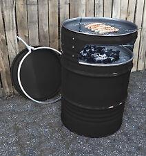Holzkohlegrill Fass  Grillwagen Grill BBQ Gartengrill Kohlegrill  Feuerkorb ÜB