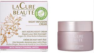 LA CURE BEAUTE Night Infusion Cream Argan Shea Beeswax 50ml rrp £47