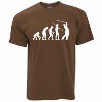 Mens Funny Golf T Shirt Evolution Of A Golfer Novelty Gift Him Dad Tshirt Tee