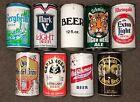 Vintage Crown, Cork & Seal Canning Line 'Topless' 12oz Beer Cans. Lot of 9