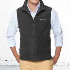 Columbia Fleece Vest Size Large Men's Full Zip-Embroidered Set