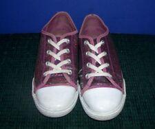 Girl's Purple Glitter Tennis Shoes Size 4 1/2  - Liv & Maddie