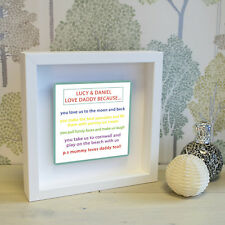 5 Reasons Why I Love You Box Frame with 3D Metal Artwork - Personalised Picture