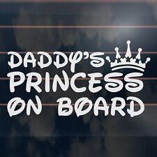 Daddy's Princess on Board Sticker 180mm Crown Baby Girl Car Window Decal