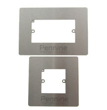 Single or Double Light Switch Plug Socket SURROUND Finger Plate Metal or Plastic