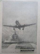 9/1945 PUB BLACKBURN FIREBRAND STRIKE AIRCRAFT ROYAL NAVY HMS PORTE-AVIONS AD