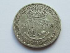More details for south africa 2 1/2 shillings (halfcrown) dated 1939 good filler/collectable coin