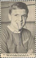 Football Autograph Don Murray Signed Newspaper Photograph & Bio Sheet F305