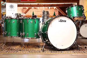 Ludwig Classic Maple 4pc Bonham Drum Set Green Sparkle - Video Demo
