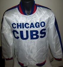 CHICAGO CUBS Starter Snap Down Jacket WHITE   M L XL 2X