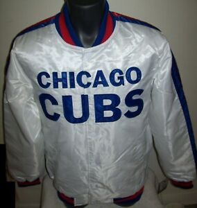 CHICAGO CUBS Starter Snap Down Jacket WHITE   5X