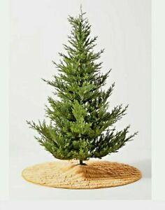 NWT Anthropologie Rory Velvet Kantha Stitch Maize Christmas Tree Skirt