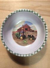 "Gibson Everyday John Deere 5 1/4"" Diameter Plastic Cereal Bowl - Pre Owned"