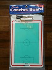 "Champion Dry Erase 2 Sided Soccer Coaches Play Board & Marker 11""x16"""