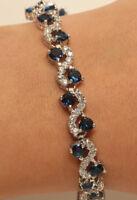 Tennis Bracelet 18K White Gold Finish Diamond S Links With Extension Lock 2ct