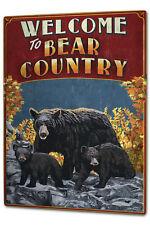 Tin Sign XXL Globetrotter  Bear Country
