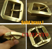 "Heavy duty Solid Brass Classical Tongue Pin Hippie Belt Buckle 1 1/2"" Z255"