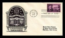 DR JIM STAMPS US WHITE HOUSE ROOSEVELT FDC COVER SCOTT 932 SEALED