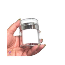 Airless Pump Jars Refillable Beauty Packaging Container 30ml 1oz 2pcs #3630
