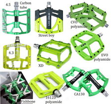 Aluminum Bike Pedal MTB Mountain Road Fixie Bicycle Bearings flat Pedals Green