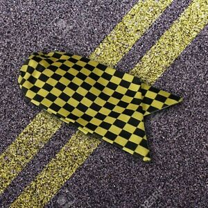 Genuine Ladies Traffic Warden Clip On Cravat Black and Yellow Check