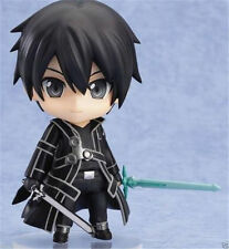 New Anime Sword Art Online Kirito Nendoroid #295 Q Edition PVC Figure No Box