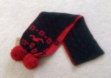 NWT Damen Hollister Schal Urlaub rot Winter Warm Strick klassisch lang