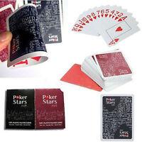 New Index Poker 100% PLASTIC Deck Spielkarten Poker Standard Casino NEU,~