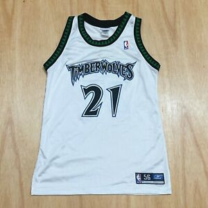 100% Authentic Kevin Garnett Reebok Timberwolves Jersey Size 42 M L Mens