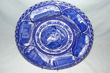 Rowland & Marcellus 1909 ALASKA-YUKON-PACIFIC EXPO Rolled Edge FLOW BLUE PLATE