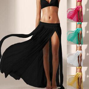 Women Beach Swimwear Bikini Cover Up Long Maxi Wrap Skirt Dress Sarong Beachwear