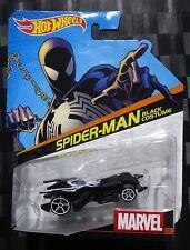 HOTWHEELS 1:64 Diecast Character Car - MARVEL #22 - SPIDERMAN BLACK COSTUME