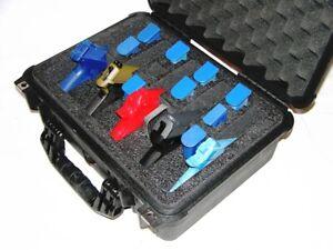 5 pistol Quickdraw handgun gun foam insert kit upgrades your Pelican 1450 case
