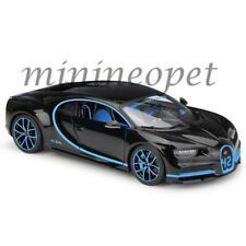 BBURAGO 18-11040 BK42 BUGATTI CHIRON 42 EDITION 1/18 BLACK with BLUE ACCENTS